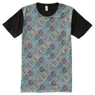Etched Hearts - Original Design by Aleta All-Over-Print T-Shirt
