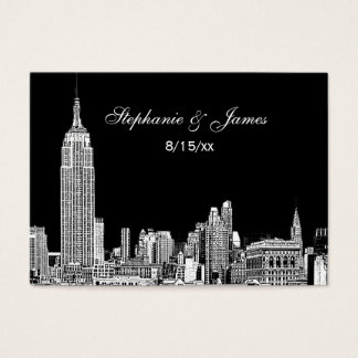 Etched NYC Skyline DIY BG Color Place Cards #2