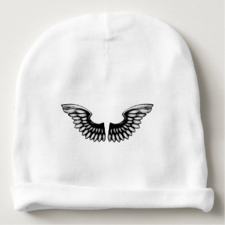 Etched Woodcut Wings Baby Beanie