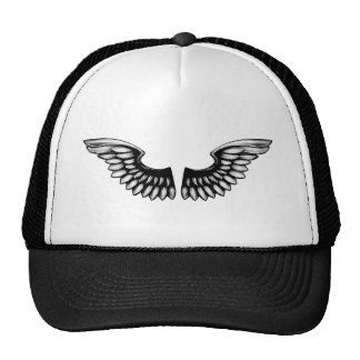 Etched Woodcut Wings Trucker Hat