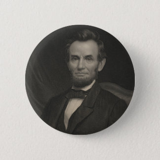 Etching Portrait of Abraham Lincoln 2 Inch Round Button