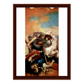 Eteocles And Polynices By Tiepolo Giovanni Battist Postcard