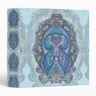 Eternal birth, new age, bohemian 3 ring binder
