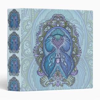 Eternal birth, new age, bohemian 3 ring binders