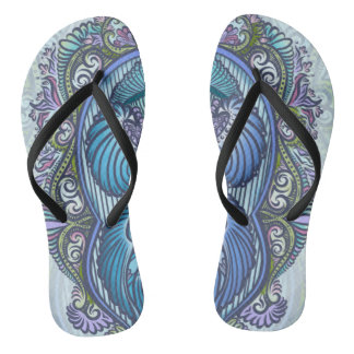Eternal birth, new age, bohemian flip flops