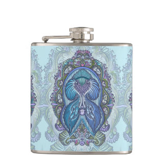 Eternal birth, new age, bohemian hip flask