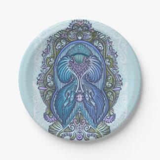 Eternal birth, new age, bohemian paper plate