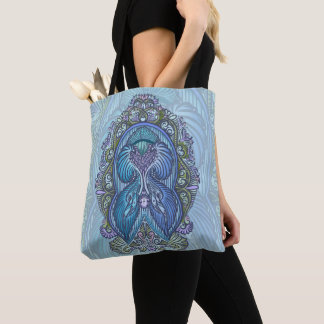 Eternal birth, new age, bohemian tote bag