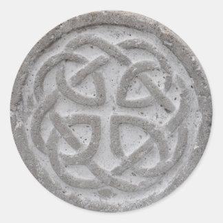 Eternal Celtic Knot Stone Envelope Seal Round Sticker
