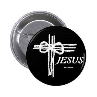 Eternal Cross/JESUS 2 Inch Round Button