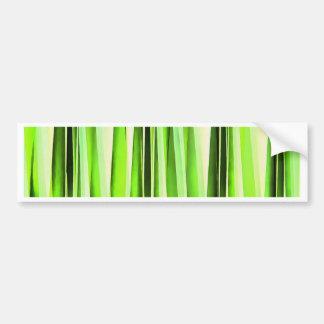Eternal Evergreen Stripy Pattern Bumper Sticker