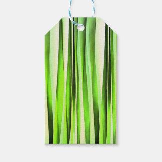 Eternal Evergreen Stripy Pattern Gift Tags