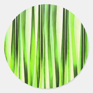 Eternal Evergreen Stripy Pattern Round Sticker