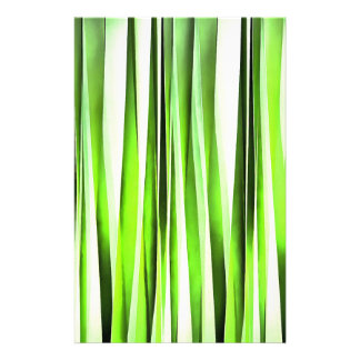Eternal Evergreen Stripy Pattern Stationery