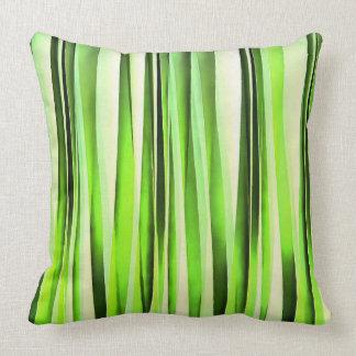 Eternal Evergreen Stripy Pattern Throw Pillow