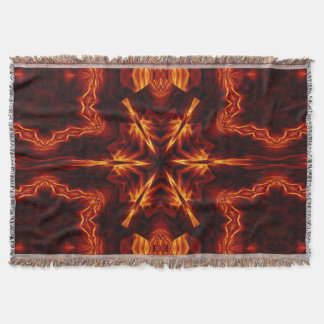 Eternal Flame Flowers 1 SDL Throw Blanket
