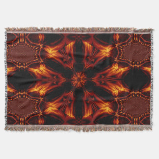 Eternal Flame Flowers 6 SDL Throw Blanket