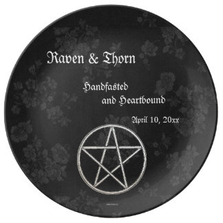 Eternal Handfasting/Wedding Pentacle Black Ste Plate