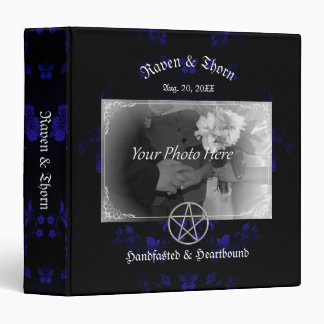 Eternal Handfasting/Wedding Pentacle Blue Ste 3 Ring Binders