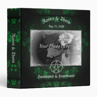 Eternal Handfasting/Wedding Pentacle Green Ste Binders