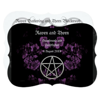Eternal Handfasting/Wedding Pentacle Lavender Ste Card