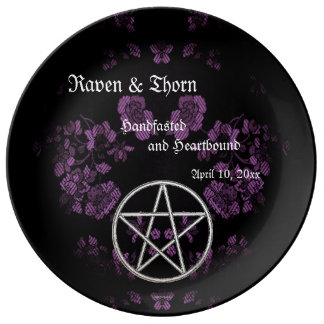 Eternal Handfasting/Wedding Pentacle Lavender Ste Plate