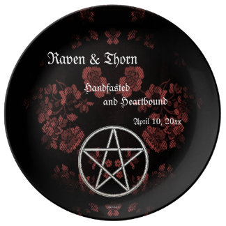 Eternal Handfasting/Wedding Pentacle Mauve Suite Plate
