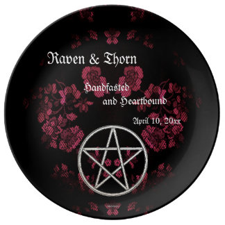 Eternal Handfasting/Wedding Pentacle Pink Ste Plate