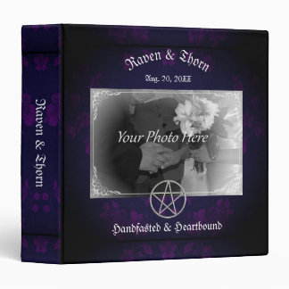 Eternal Handfasting/Wedding Pentacle Purple Suite Vinyl Binders