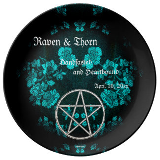 Eternal Handfasting/Wedding Pentacle Turquoise Ste Plate