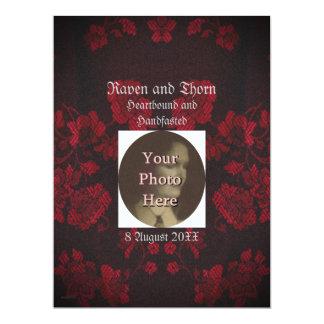 "Eternal Handfasting/Wedding Suite 6.5"" X 8.75"" Invitation Card"