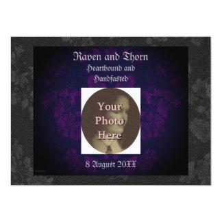 "Eternal Handfasting/Wedding Suite Purple 6.5"" X 8.75"" Invitation Card"