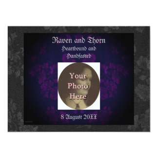 Eternal Handfasting/Wedding Suite Purple Personalized Invites