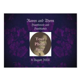 Eternal Handfasting/Wedding Suite Purple Personalized Invitations