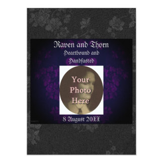 Eternal Handfasting/Wedding Suite Purple Invite