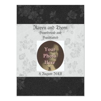 "Eternal Handfasting/Wedding Suite White and Gray 6.5"" X 8.75"" Invitation Card"