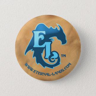Eternal Lands Logo button, blue 2 Inch Round Button