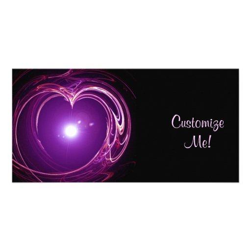 Eternal Love 'Fractal Heart' Digital Art Design Customized Photo Card