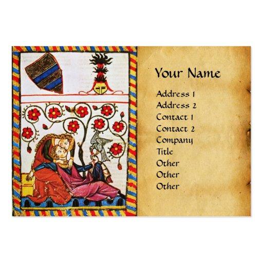 ETERNAL LOVE , MONOGRAM  parchment Large Business Card