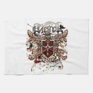 eternal pride anger affected red kitchen towel