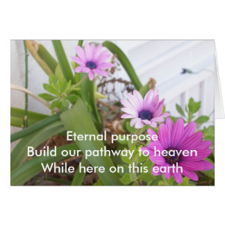 Eternal Purpose Prpl Daisies Card