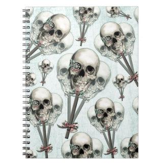 Eternally Sweet lollipop skull. Notebooks