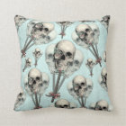 Eternally Sweet Skull Lollipops Throw Pillow