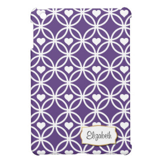 Eternity Circle with Hearts | iPad Mini Case plum