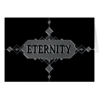 Eternity concept. card