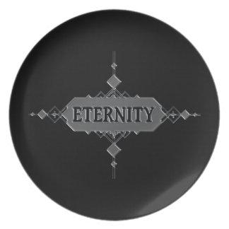 Eternity concept. party plates