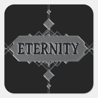 Eternity concept. square sticker