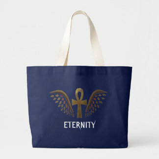 Eternity- Gold Ankh Large Tote Bag