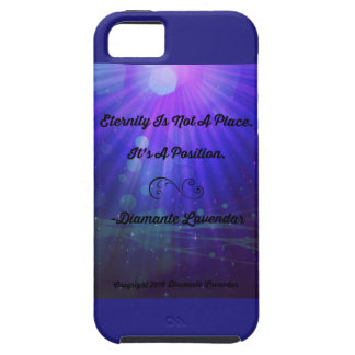 Eternity Is Not A Place by Diamante Lavendar Case For The iPhone 5