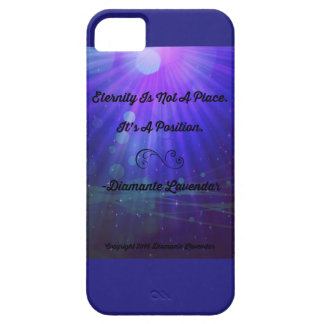 Eternity Is Not A Place by Diamante Lavendar iPhone 5 Case
